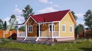 Каркасный Дом 8х8 м из бруса по проекту Муокса