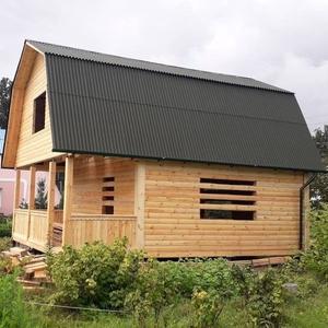 Дом сруб из бруса 6х8 установка в в Новополоцке