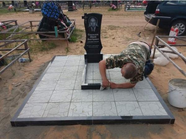 Изготовление памятника недорого. Благоустройство могил Новополоцк и рн 4
