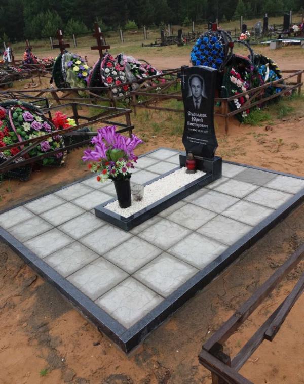 Памятник под ключ,  благоустройство могил. Полоцк и рн 8